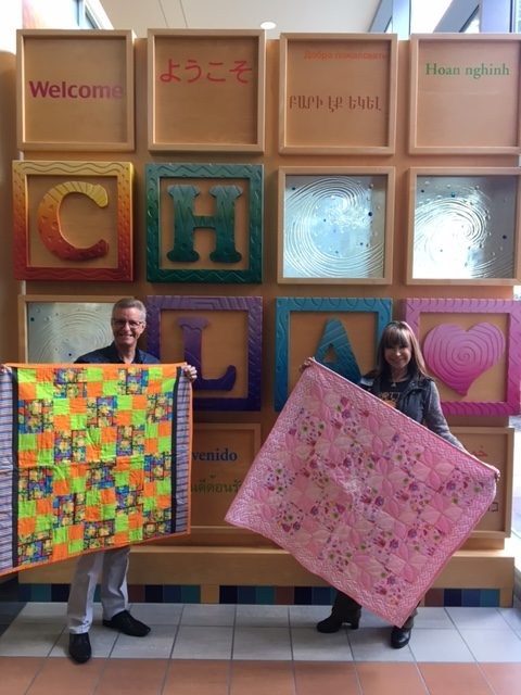 Cynthia Rothrock Delivers Quilts to Little Ninjas!